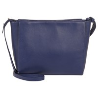 Jaeger Icon Leather Across Body Bag Blue