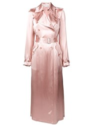 Fleur Du Mal Classic Fitted Trench Coat Pink