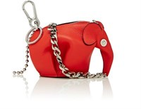 Loewe Men's Punk Elephant Coin Purse Key Chain Red