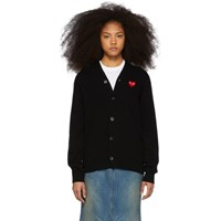 Comme Des Garcons Play Black And Red 'S Fit Heart Cardigan