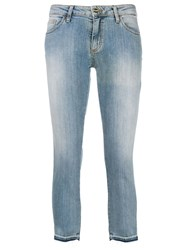 Blugirl Cropped Faded Jeans Blue