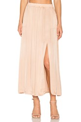 Raquel Allegra Ribbon Midi Skirt Brown