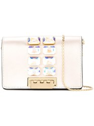 Zac Posen Earthette Crystal Embellished Crossbody Metallic