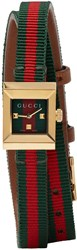 Gucci Red And Green G Frame Watch