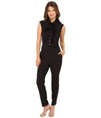 The Kooples Light Sponge Crepe Jumpsuit Black