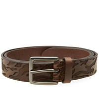 Andersons Anderson's Embossed Camo Belt Brown