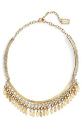 Karine Sultan Women's Fringe Collar Necklace Gold Silver Mix