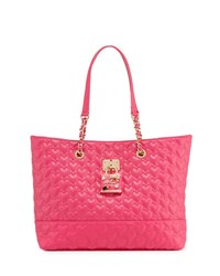 Betsey Johnson Be My Baby Quilted Tote Bag Fuschia