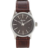 Nixon Men's Sentry 38 Ss Watch Brown