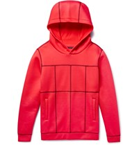 Christopher Kane Panelled Scuba Jersey Hoodie Red