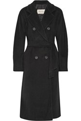 Max Mara Madame 101801 Wool And Cashmere Blend Coat Black