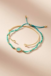 Anthropologie Marin Layered Bracelet Mint