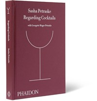 Phaidon Regarding Cocktails Hardcover Book Burgundy