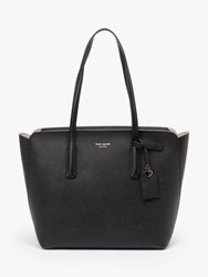Kate Spade New York Margaux Medium Leather Tote Bag Black