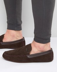 Ted Baker Moriss Suede Slippers Brown