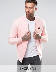 Ellesse Jersey Bomber Jacket With Sleeve Print Pink