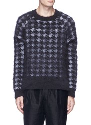 Haider Ackermann Houndstooth Jacquard Brushed Sweater Multi Colour