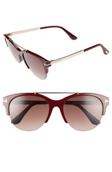 Tom Ford Women's Adrenne 55Mm Sunglasses Burgundy Rose Gold Burgundy Burgundy Rose Gold Burgundy