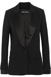 Tom Ford Satin Trimmed Cady Tuxedo Jacket Black