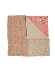 Pierre Louis Mascia Embroidered Scarf Pink