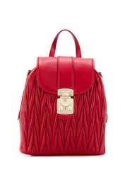 Miu Miu Quilted Backpack Red