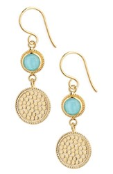 Anna Beck Women's Semiprecious Stone Double Drop Earrings Turquoise