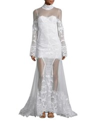 Jonathan Simkhai Lace Bell Sleeve Gown White