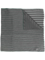Fabiana Filippi Striped Fringed Scarf Grey