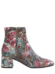 Attilio Giusti Leombruni 50Mm Printed Embossed Leather Boots
