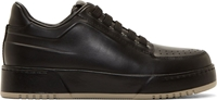 3.1 Phillip Lim Black Buffed Matte Leather Sneakers