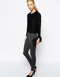 Mango Zip Detail Ponte Tailored Trouser Darkgrey