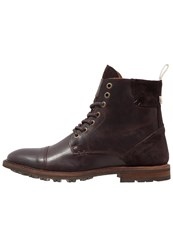 Selected Homme Shntravis Laceup Boots Demitasse Brown