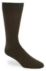Men's John W. Nordstrom Ribbed Wool Blend Socks Green Green Heather