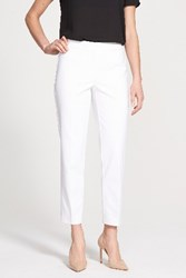 Nordstrom Women's Collection 'Veloria' Slim Ankle Pants White