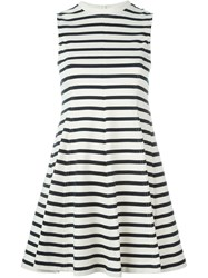 T By Alexander Wang Striped Skater Dress White