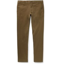 Paul Smith Ps By Slim Fit Stretch Cotton Twill Chinos Army Green