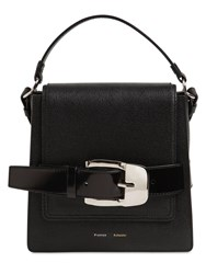 Proenza Schouler Buckle Trapeze Grained Leather Bag Black