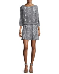 Soft Joie Arryn B 3 4 Sleeve Printed Dress Dark Gray