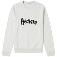 Saint Laurent Heaven Embroidered Crewneck Knit Grey