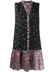 Kristina Ti Floral Print Shirt Dress Black