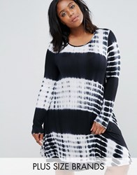 Alice And You Tie Dye Shift Dress Black
