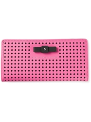 Marc By Marc Jacobs 'Sophisticato Bow Perf Tomoko' Wallet Pink And Purple