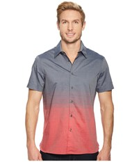 Perry Ellis Short Sleeve Ombre Horizontal Pattern Shirt Haute Red Clothing