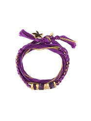 Aurelie Bidermann 'Takayama' Wrap Bracelet Pink And Purple