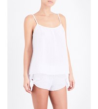 Eberjey Pax Textured Cotton Camisole White