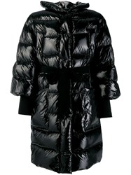 Red Valentino Cropped Puffer Jacket Black