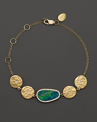 Meira T 14K Yellow Gold Opal Disc Bracelet With Diamonds
