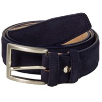 40 Colori Navy Trento Leather Belt Blue