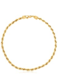 Emanuele Bicocchi French Rope Braided Necklace Gold