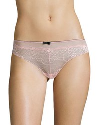 Candc California Stretch Mesh Lace Thong